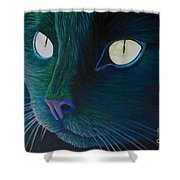 Night Vision Shower Curtain by Brian  Commerford