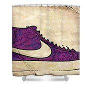 Nike Blazers Purple Shower Curtain by Alfie Borg