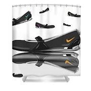 Nike Shower Curtain by Veronica Minozzi