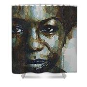 Nina Simone Shower Curtain by Paul Lovering