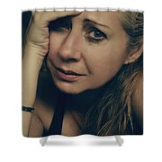 No Easy Decisions Shower Curtain by Laurie Search