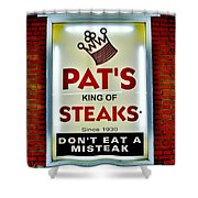 No Misteaks Shower Curtain by Benjamin Yeager