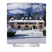 No One Home Shower Curtain by Joan Carroll