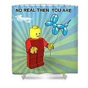 No Real Then You Are Shower Curtain by Mark Ashkenazi
