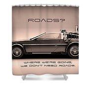 No Roads Shower Curtain by Patrick Charbonneau