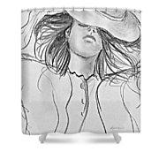No Worries Shower Curtain by Kume Bryant
