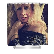 No You Don't Know Me Shower Curtain by Laurie Search