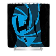 No024 My Dr No James Bond minimal movie poster Shower Curtain by Chungkong Art