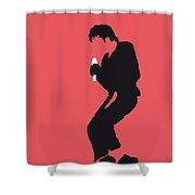 No032 MY MICHAEL JACKSON Minimal Music poster Shower Curtain by Chungkong Art