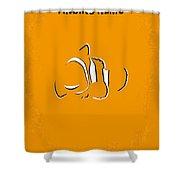 No054 My Nemo Minimal Movie Poster Shower Curtain by Chungkong Art