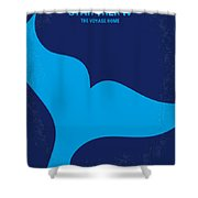 No084 My Star Trek 4 Minimal Movie Poster Shower Curtain by Chungkong Art