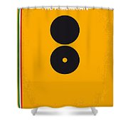 No088 My The American Minimal Movie Poster Shower Curtain by Chungkong Art