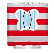 No098 My Papillon minimal movie poster Shower Curtain by Chungkong Art