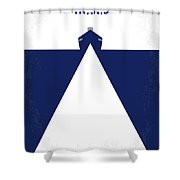 No100 My Titanic Minimal Movie Poster Shower Curtain by Chungkong Art