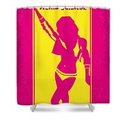 No106 My Weird science minimal movie poster Shower Curtain by Chungkong Art
