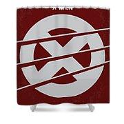 No123 My Xmen minimal movie poster Shower Curtain by Chungkong Art