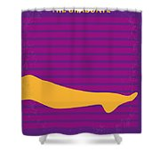 No135 My The Graduate Minimal Movie Poster Shower Curtain by Chungkong Art