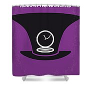 No140 My Alice In Wonderland Minimal Movie Poster Shower Curtain by Chungkong Art