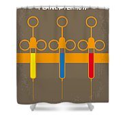 No165 My Planet Terror Minimal Movie Poster Shower Curtain by Chungkong Art
