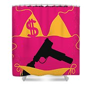 No218 My SPRING BREAKERS minimal movie poster Shower Curtain by Chungkong Art