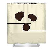 No227 My Kung Fu Panda Minimal Movie Poster Shower Curtain by Chungkong Art