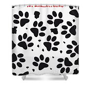No229 My 101 Dalmatians Minimal Movie Poster Shower Curtain by Chungkong Art