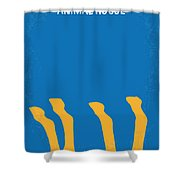 No230 My Animal House Minimal Movie Poster Shower Curtain by Chungkong Art