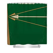 No237 My Robin Hood Minimal Movie Poster Shower Curtain by Chungkong Art