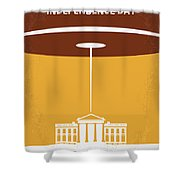 No249 My Independence Day Minimal Movie Poster Shower Curtain by Chungkong Art