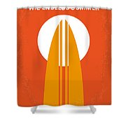 No274 My The Endless Summer Minimal Movie Poster Shower Curtain by Chungkong Art