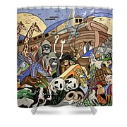 Noahs Ark Shower Curtain by Anthony Falbo