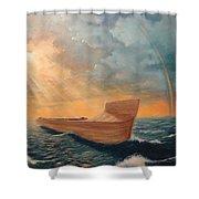 Noah's Ark Shower Curtain by Clay Hibbard