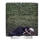 Nobody Wants To Play With Me Shower Curtain by Joana Kruse