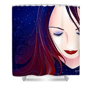 Nocturn II Shower Curtain by Sandra Hoefer