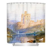 Norham Castle An Illustration To Marmion By Sir Walter Scott Shower Curtain by Joseph Mallord William Turner
