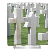 Normandy American Cemetery Shower Curtain by HEVi FineArt