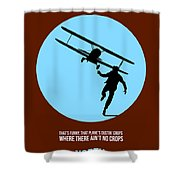 North By Northwest Poster 2 Shower Curtain by Naxart Studio
