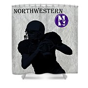 Northwestern Football Shower Curtain by David Dehner