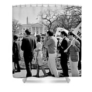 Not In Vain Shower Curtain by Benjamin Yeager