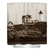 NUBBLE LIGHT Shower Curtain by Skip Willits