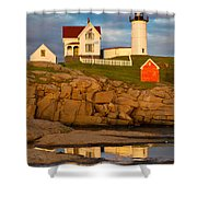 Nubble Lighthouse No 1 Shower Curtain by Jerry Fornarotto