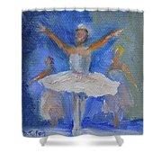 Nutcracker Ballet Shower Curtain by Donna Tuten