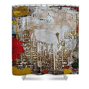 Ny City Collage 7 Shower Curtain by Corporate Art Task Force