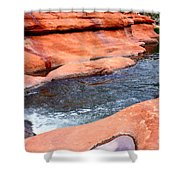 Oak Creek At Slide Rock Shower Curtain by Carol Groenen