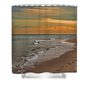 Oblivious Shower Curtain by Barbara McMahon