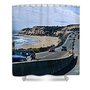 Oc On Pch In Ca Shower Curtain by Jennie Breeze
