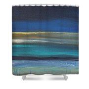 Ocean Blue 2 Shower Curtain by Linda Woods