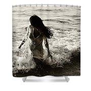 Ocean Mermaid Shower Curtain by Jenny Rainbow