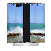 Ocean View Shower Curtain by Carey Chen