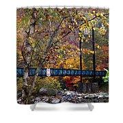 Ocoee River Bridge Shower Curtain by Debra and Dave Vanderlaan